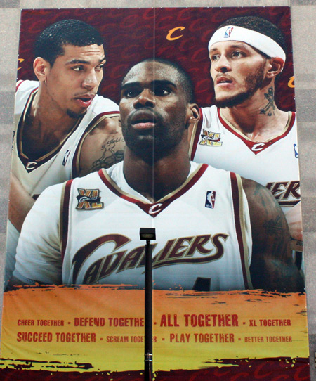Cleveland Cavs Danny Green, Antawn Jamison and Delonte West
