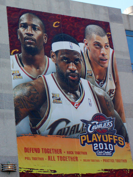 Cleveland Cavs Jawad Williams, Lebron James and Anthony Parker
