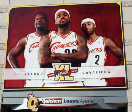 Cleveland Cavaliers Cavs Shaquille O'Neal, Lebron James and Mo Williams
