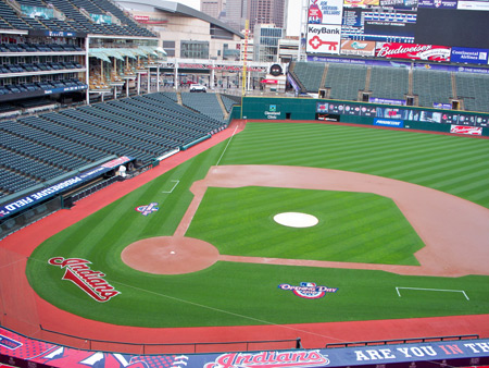 View from the Cleveland Indians fan cave