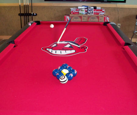 Chief Wahoo pool table