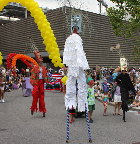 Stilts at Parade the Circle in University Circle