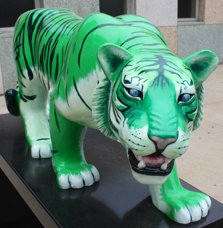 Chinese Year of Tiger sculptures in Cleveland