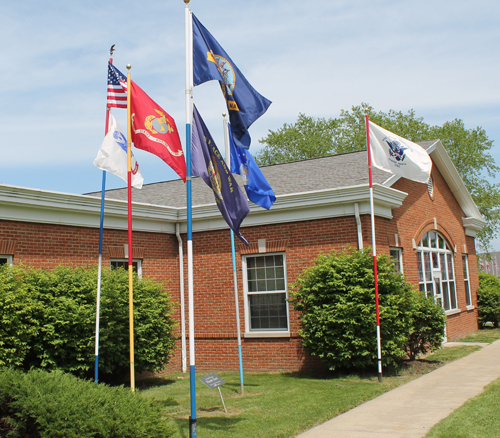 Armed Services flags in Eastlake Ohio