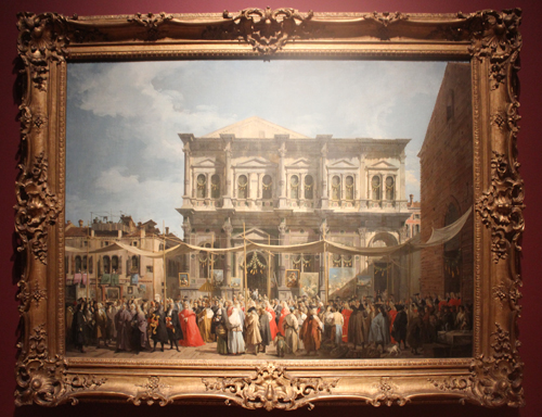 The Procession on the Feast Day of Saint Roch from about 1735 by Canaletto