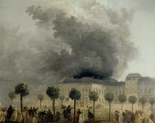 The Morning after the Fire at the Opera House of the Palais-Royal