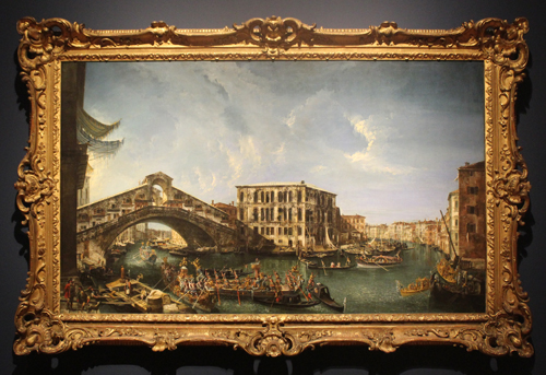 The Rialto Bridge with the Festive Entry of the Patriarch Antonio Correr from 1735 by Michele Marieschi