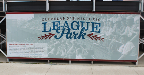 League Park in Cleveland sign
