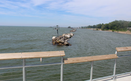 Euclid Beach pier view looking east