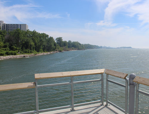 Euclid Beach pier view looking west