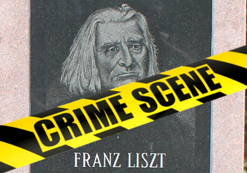 Murder in the Cultural Gardens book cover - Franz Liszt statue