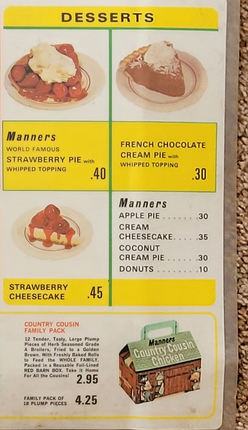 Old Manners Big Boy Restaurant menu - 4
