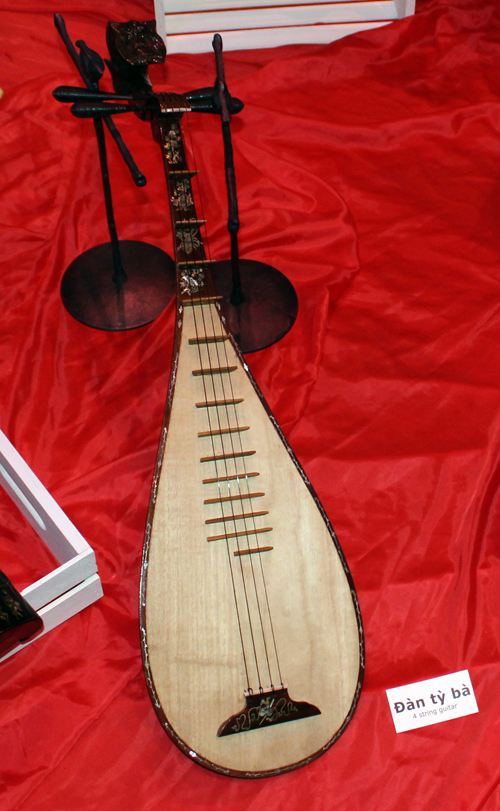 Musical instrument from Vietnam at Orchid Mania at Cleveland Botanical Garden
