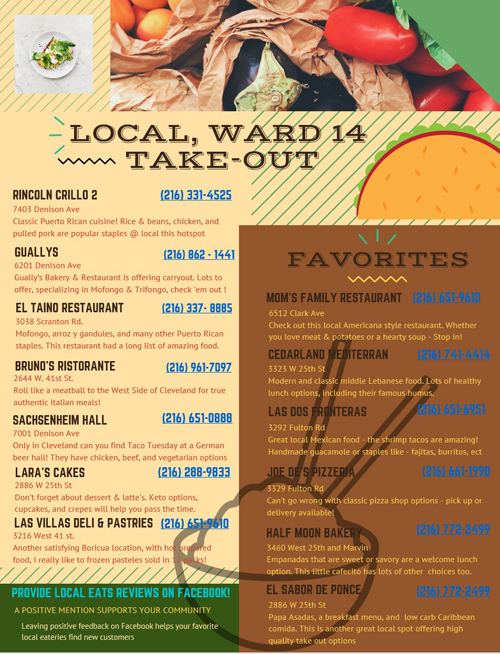 Cleveland Ward 14 Restaurants