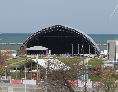 Stage for 2021 NFL Draft in Cleveland