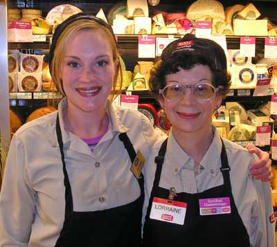 Certified Cheesemongers Liz and Lorraine from Giant Eagle Legacy Village