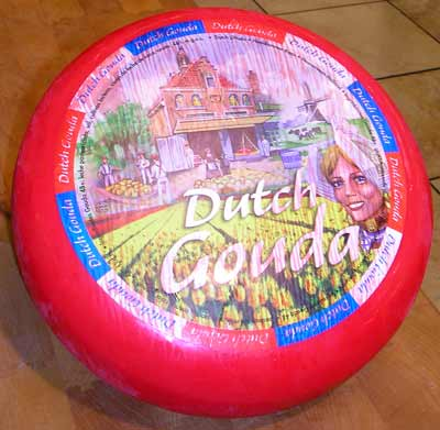 Imported Dutch Red Wax Gouda cheese