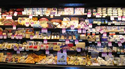 Giant Eagle Legacy Village cheese selection