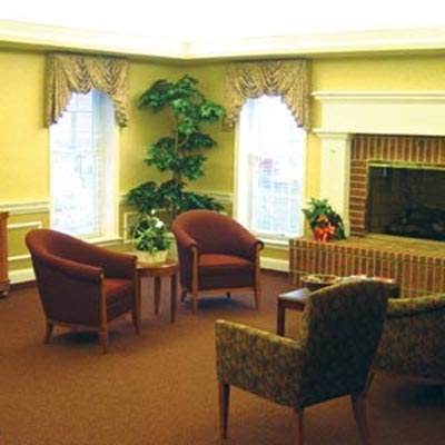 Mount Alverna Village quality senior housing lobby