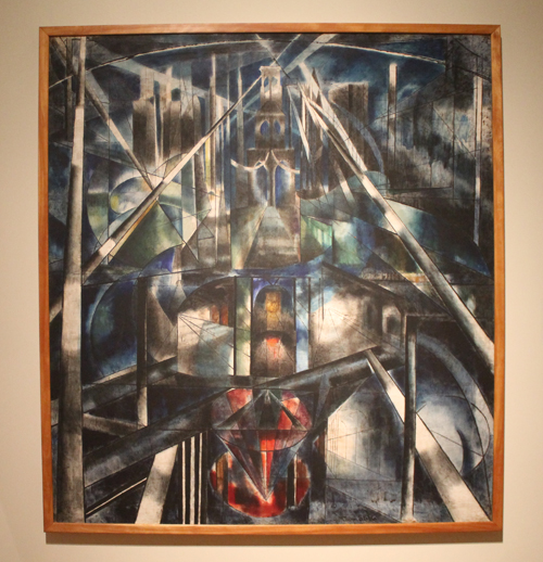 Brooklyn Bridge oil on canvas by Joseph Stella