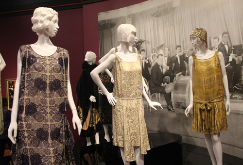 Flapper dress at Jazz Age exhibit at Cleveland Museum of Art