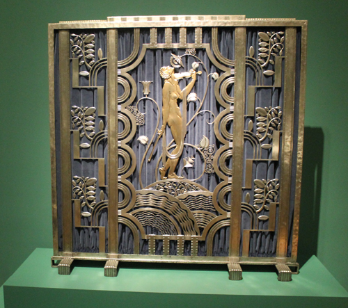 Muse with Violin screen from 1930