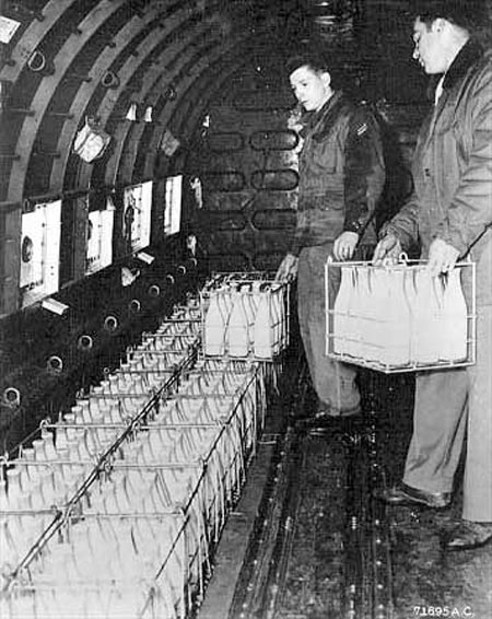 Loading milk on a West Berlin-bound aircraft