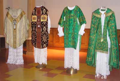 Vestments - Copes, Chasubles