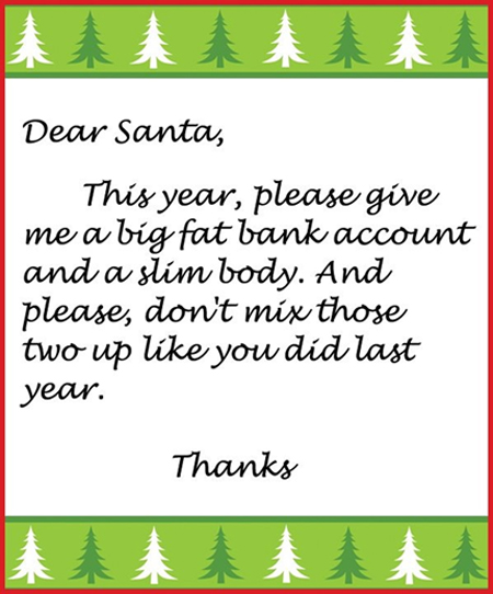 List for Santa Claus