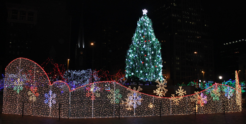 Cleveland Christmas.Christmas Lights On Cleveland Public Square