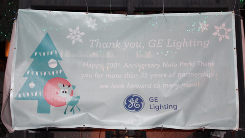 GE Lighting - Christmas display in downtown Cleveland on Public Square