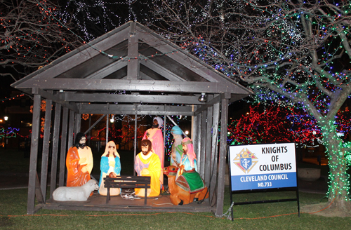 Knights of Columbus Nativity Christmas display in downtown Cleveland on Public Square