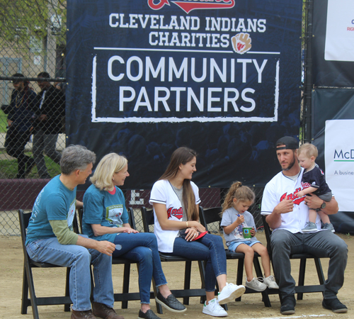 Paul and Karen Dolan with Yan Gomes and family