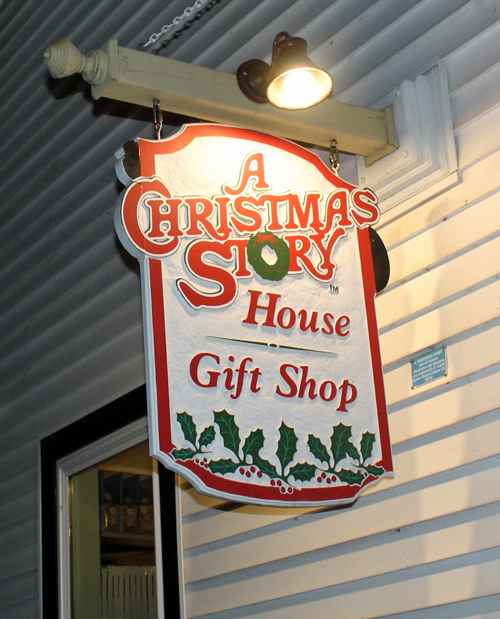 A Christmas Story House giftshop sign