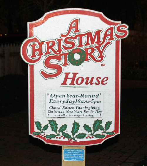 A Christmas Story House sign