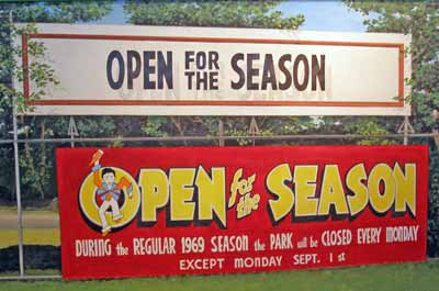 Sign saying Euclid Beach Park - Open for the 1969 Season