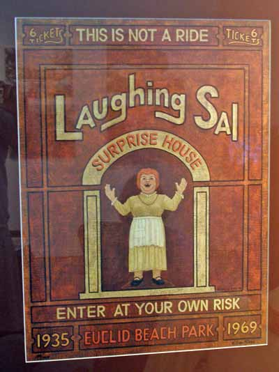 Laughing Sal poster from Euclid Beach