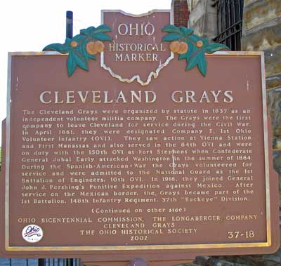 Cleveland Grays Ohio Historical Marker
