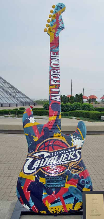 Cleveland Cavaliers Guitar at Guitarmania in Cleveland