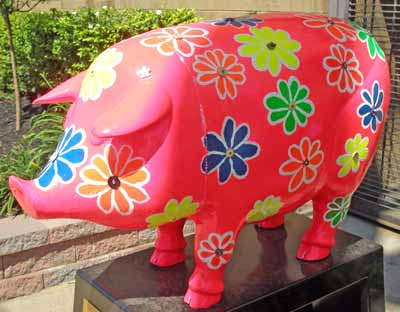 Day-Glo Pig in Cleveland