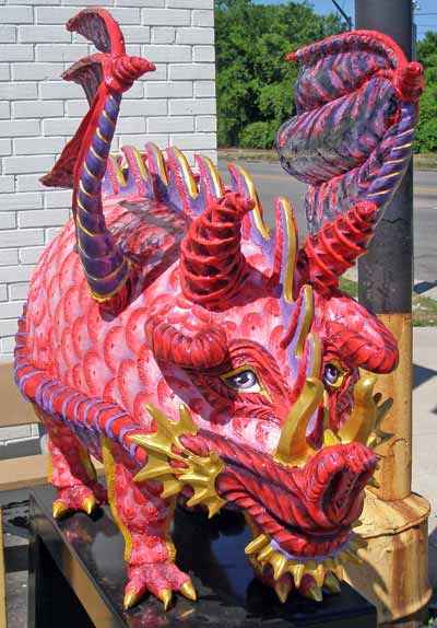 I dreamt I was a Dragon Pig sculpture at Asia Food Market at 3126 St. Clair