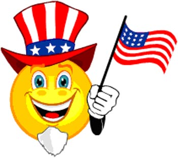 4th of July smilie clipart