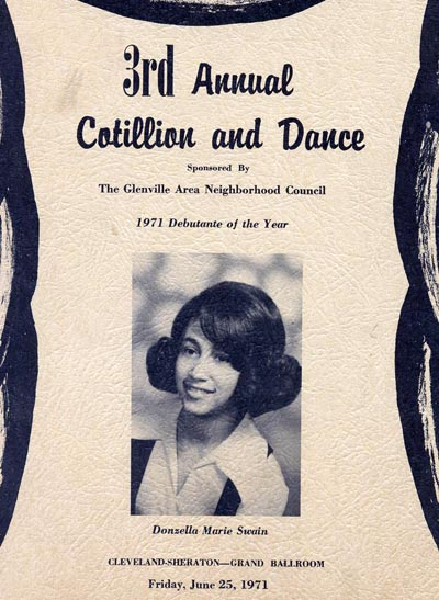 1971 Glenville Cotillion program cover