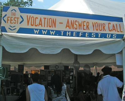 Vocations Booth at the Fest 2008