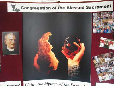 Blessed Sacrament Congregation display