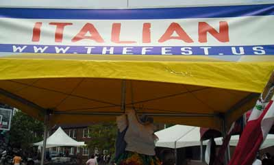 Italian Catholics booth at the Cleveland Fest 2007