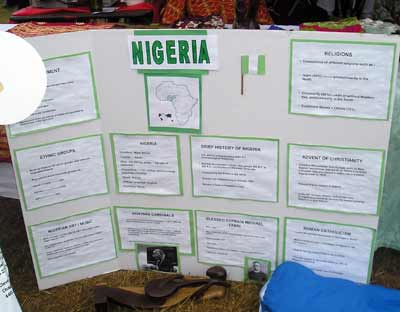 Nigerian display at the Cleveland Catholic Fest 2007