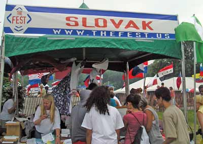 Slovak display at the Cleveland Catholic Fest 2007