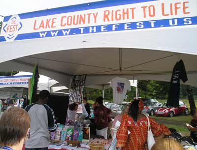 Lake County Right to Life display