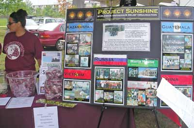 Project Sunshine display